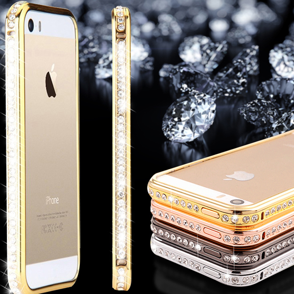 cb80b9c34eb Bumper For iphone 5S Capa Luxury Glitter Bling Rhinestone Crystal Case For  Apple iPhone 5 5 S Mobile Phone Accessories   Parts