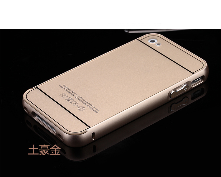 big sale da0f9 5d393 Metal Aluminum Case + Acrylic Phone Accessories Full Protective Front Back  Cover For Apple iphone 4 4S iphone4 iphone4S