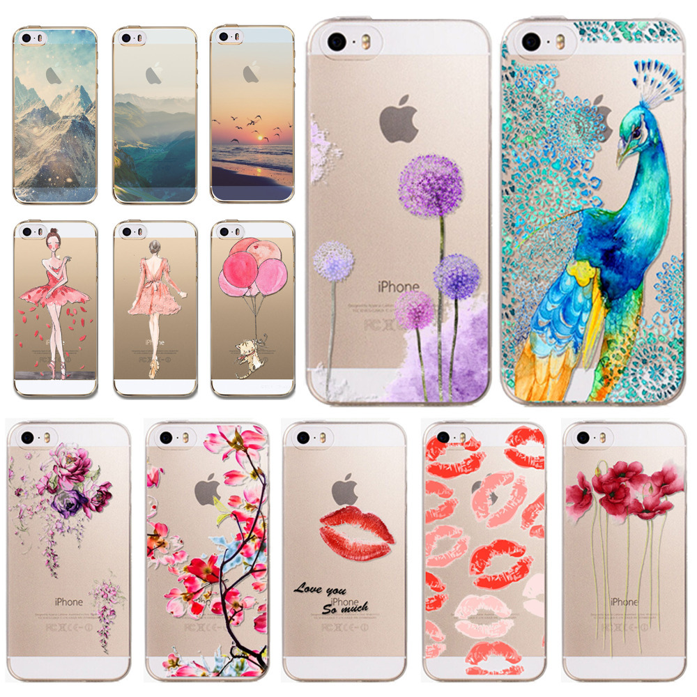 phone cases cover for apple iphone 5 5s 5g super thin soft tpu clear