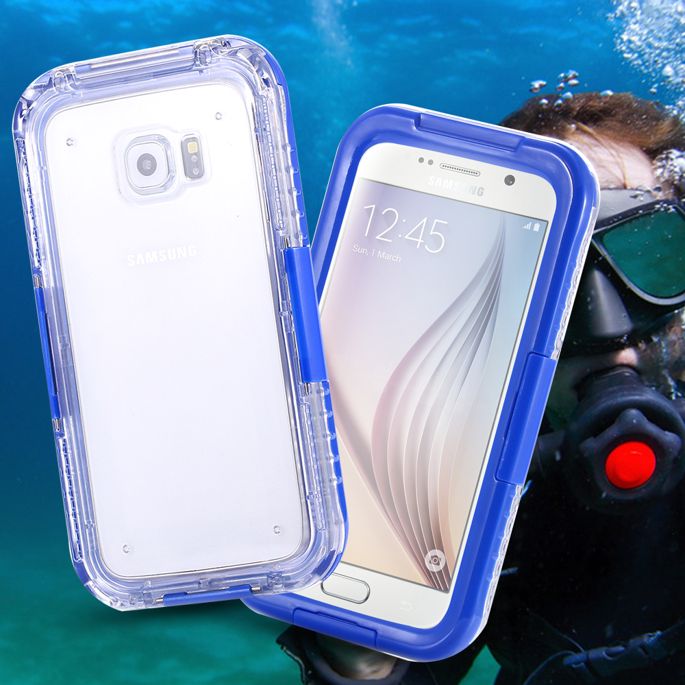 separation shoes cc72a 43452 S6 Edge Swimming Waterproof Cases For Samsung Galaxy S6 5.1inch Phone  Screen Diving Underwater Protective Cover Capa Shell
