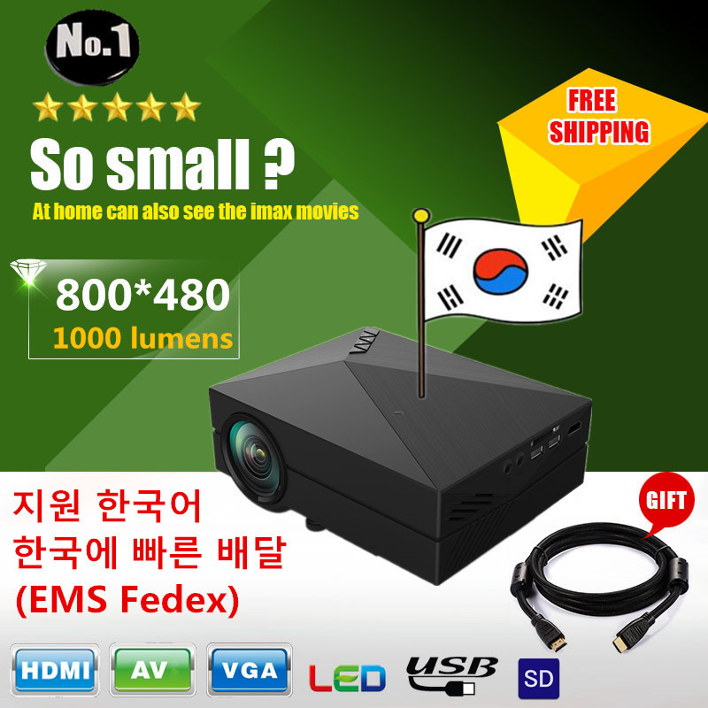 FREE GIFT 8GB SD CARD GM60 HD Home Theater MINI Projector For Video Games  TV Movie Support HDMI VGA AV SD Portable